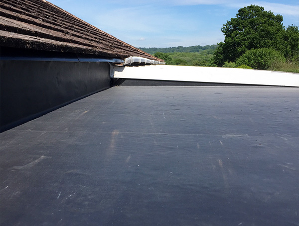 Flat roof after work