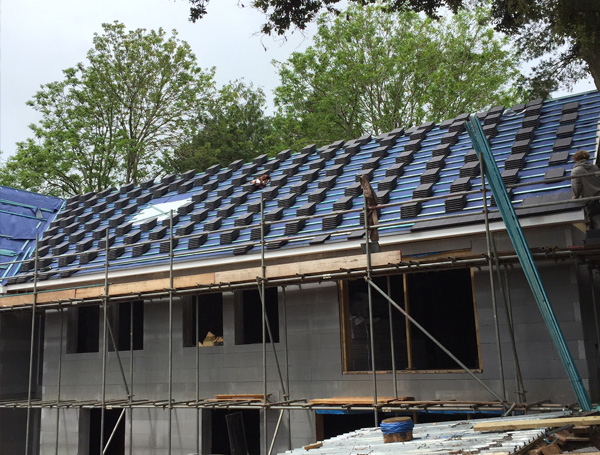 New housing construction - roof in progress