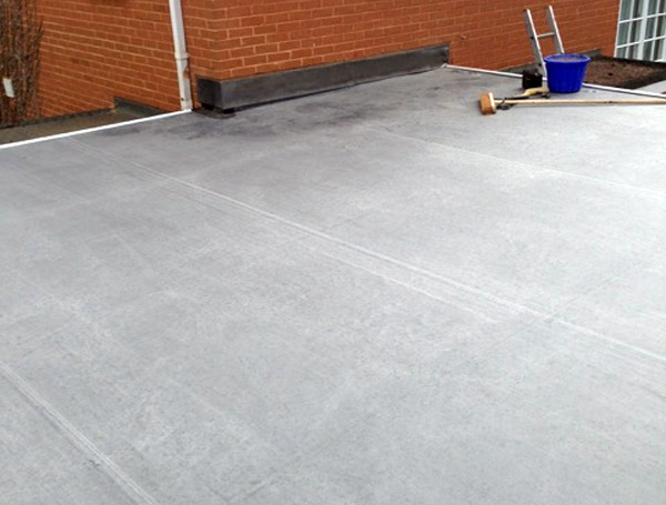 Flat roof repair completed